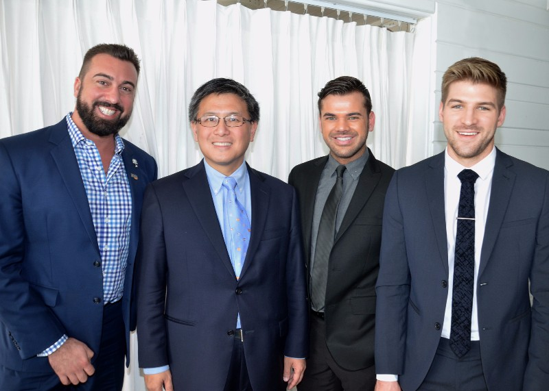 CA State Treasurer John Chiang with Collective REALTY CEO Anthony Vulin with his agents Christopher Wookey and Tanner Brown.